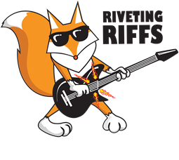 New Logo riveting riffs magazine